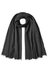 Rick Owens Cotton Scarf With Cashmere Black