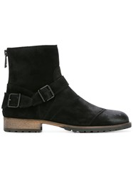 Belstaff Buckled Ankle Boots Black