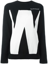 White Mountaineering 'W' Print Sweatshirt Black