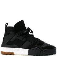 Adidas Originals By Alexander Wang Aw Bball Hi Top Sneakers Unisex Calf Leather Nylon Rubber 5 Black