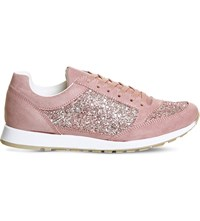 Office Party Glitter Trainers Pink