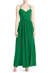 Women's A By Amanda 'Rio' Halter Maxi Dress Kelly Green