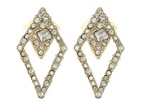 Alexis Bittar Crystal Encrusted Spiked Lattice Post Earrings 10K Gold Earring