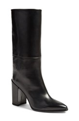 Stuart Weitzman Women's 'Straighten' Pointy Toe Boot Black Calf