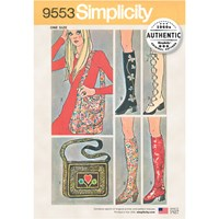 Simplicity 'S 1960S Vintage Spats And Bags Sewing Pattern 9553