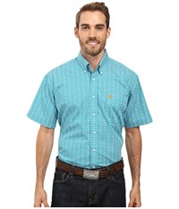 Cinch Short Sleeve Print Teal Men's Clothing Blue