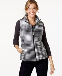 Charter Club Quilted Checkered Vest Only At Macy's Vintage Cream Combo