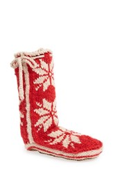 Woolrich Women's 'Chalet' Socks Red