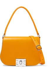 Calvin Klein 205W39nyc Bonnie Grosgrain Trimmed Leather Shoulder Bag Yellow