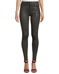 Black Orchid Jude Mid Rise Metallic Ankle Skinny Jeans Black
