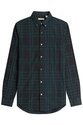 Burberry Brit Checked Cotton Shirt Green