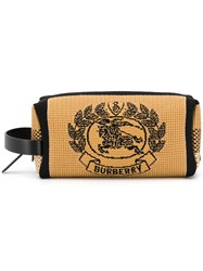Burberry Archive Crest Knitted Pouch Brown