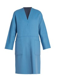 Max Mara Embassy Reversible Coat Light Blue