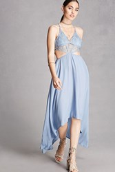 Forever 21 Haute Rogue High Low Cami Dress Light Blue