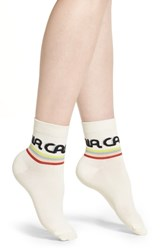 Richer Poorer California Ankle Socks Ivory