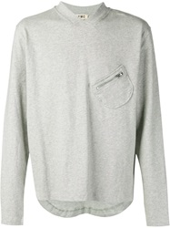 Ymc Patch Pocket Sweatshirt Grey