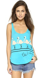 Wildfox Couture Dancin' Hiker Tank Summer Sea