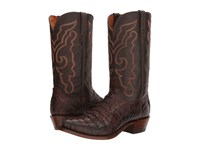 Lucchese Franklin Barrel Brown Cowboy Boots