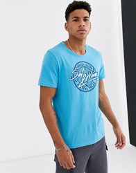 Tom Tailor T Shirt With Summer Print Blue