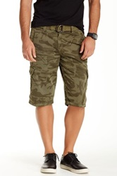 X Ray Printed Cargo Short Green