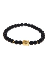 Jean Claude Buddha Black Onyx Stretch Bracelet