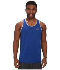 Adidas Ultimate Tank Collegiate Royal Heather Dgh Solid Grey Men's Sleeveless Blue