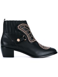 Sophia Webster Studded Ankle Boots Black