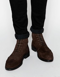 Lambretta Brogue Boots Brown
