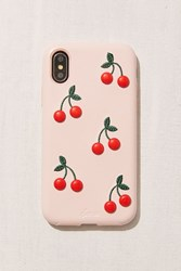 Urban Outfitters Patent Cherry Iphone X Case Peach