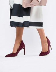 Ted Baker Suede Heeled Court Shoes Red