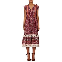 Ulla Johnson Women's Zanna Peasant Dress Red