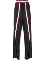 Golden Goose Sophie Striped Track Pants Blue