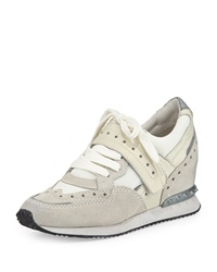 Ash Detox Ter Spiked Leather Wedge Sneaker Off White