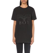 Boy London Eagle Logo Neoprene T Shirt Black