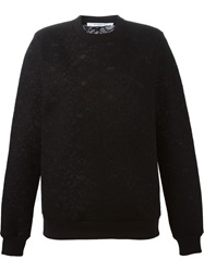 Givenchy Floral Lace Sweater Black
