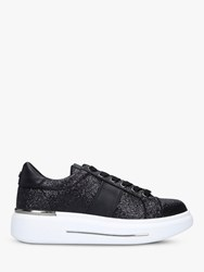 Carvela Jubilate Glitter Lace Up Chunky Trainers Black