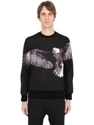 Neil Barrett Eagle Printed Neoprene Sweatshirt