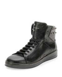 Alexander Mcqueen Elgar Studded High Top Sneaker Black