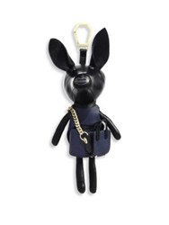 Kendall Kylie Sophie Metallic Leather Dog Key Charm Gold Black Black Midnight Navy