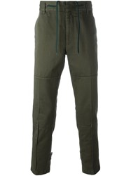 Marc Jacobs Drawstring Chino Trousers Green