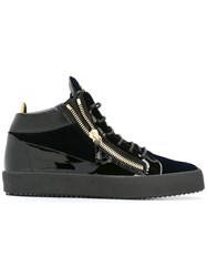 Giuseppe Zanotti Design Logo Print Lace Up Trainers Black