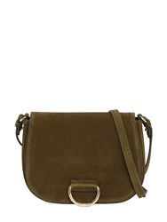 Little Liffner Medium Saddle Suede Shoulder Bag