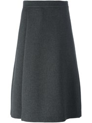 P.A.R.O.S.H. A Line Mid Length Skirt Grey