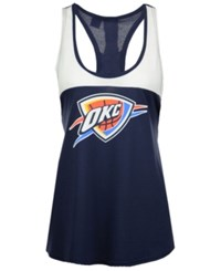 Adidas Women's Oklahoma City Thunder Colorblock Tank Navy White