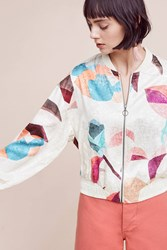 Anthropologie Geo Bomber Neutral Motif