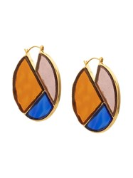 Lizzie Fortunato Jewels Glass Mosaic Hoops Multicolour