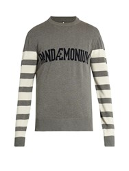 Oamc Pandaemonium Crew Neck Stretch Cotton Sweater Grey