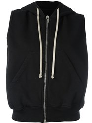 Rick Owens Drkshdw Sleeveless Zipped Hoodie Black
