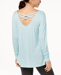 Ideology Cross Back Top Created For Macy's Breezy Sea