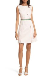 Ted Baker Women's London Petta Stretch Cotton Sheath Nude Pink